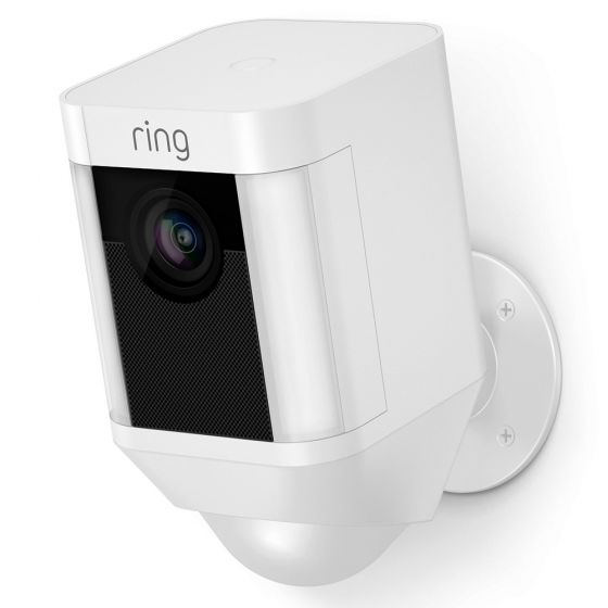 Image of Ring Smart Video Security Spotlight Wifi CCTV Camera Battery White