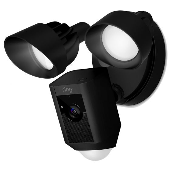 Image of Ring Smart Video Security Floodlight Wifi Camera Siren & Alarm Black