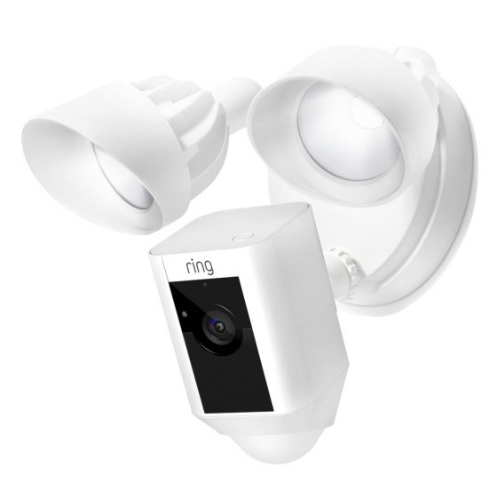 Image of Ring Smart Video Security Floodlight Wifi Camera Siren & Alarm White