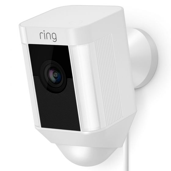 Image of Ring Smart Video Security Spotlight Wifi CCTV Camera 230V WIred White
