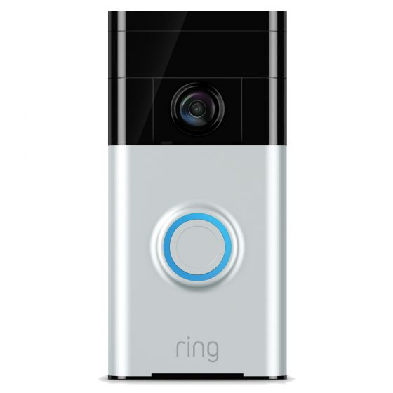 Image of Ring Smart Video Doorbell 2 with Wifi HD CCTV Camera 24V or Battery