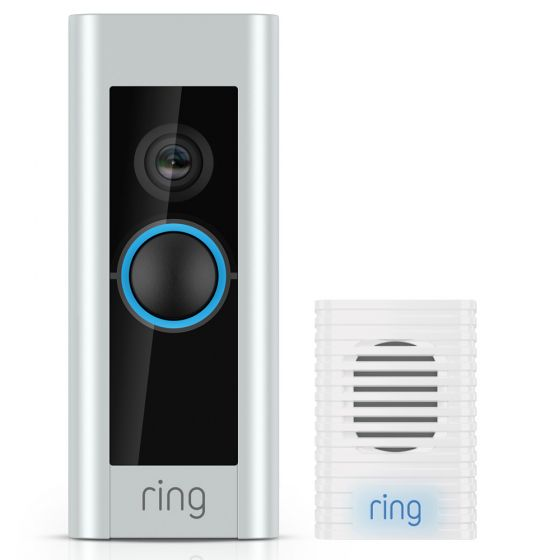 Image of Ring Pro Video Doorbell & Chime Kit with Wifi HD CCTV Camera 24V