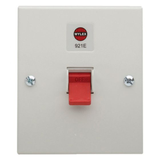 Image of Wylex 921E Isolator Switch 32A TPN 415V Metal Enclosure