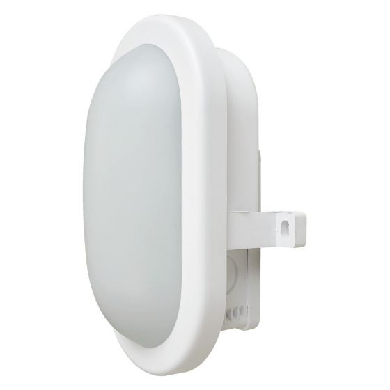 Image of Avenger Outdoor LED Oval Bulkhead 450lm 6W 4200K LED Black Opal IP65
