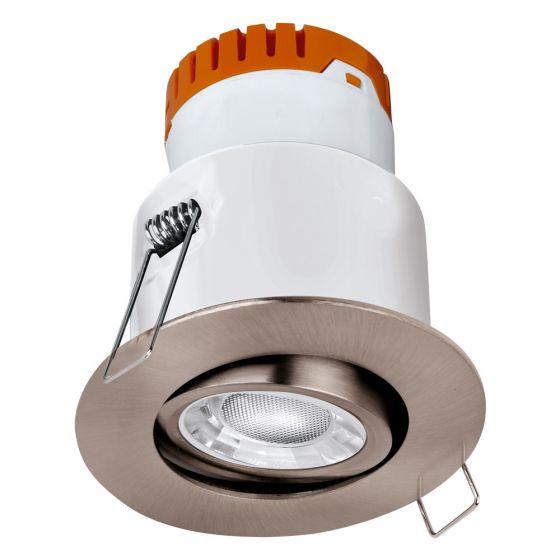 Image of Avenger LED Tilt Downlight Nickel Dimmable 8W 610lm 3000K IP20
