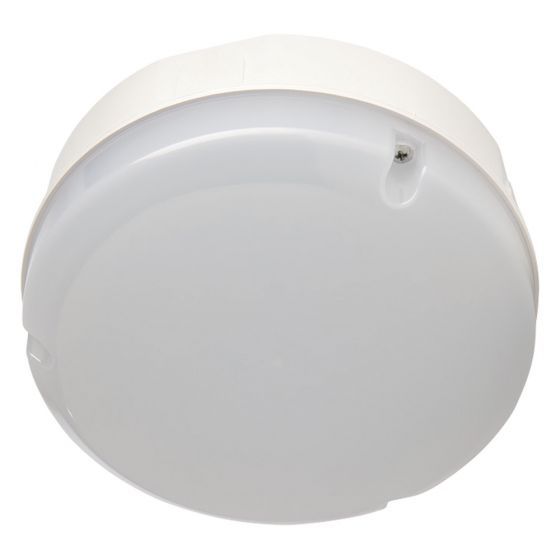 Image of Avenue LED Round Emergency Bulkhead 290mm 1150lm 12W 4000K IP65 White Opal