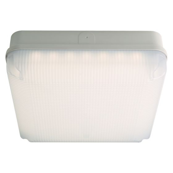 Image of Avenue LED Square Bulkhead with Microwave 290mm 1150lm 12W 4000K IP65 White Opal
