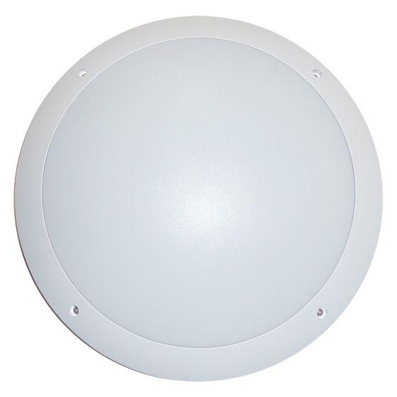 Image of Avenger Outdoor LED Round Bulkhead 800lm 12W 4200K White Opal IP65