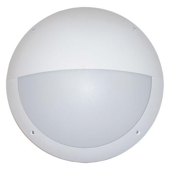 Image of Avenger Outdoor LED Eyelid Bulkhead 800lm 12W 4200K White Opal IP65