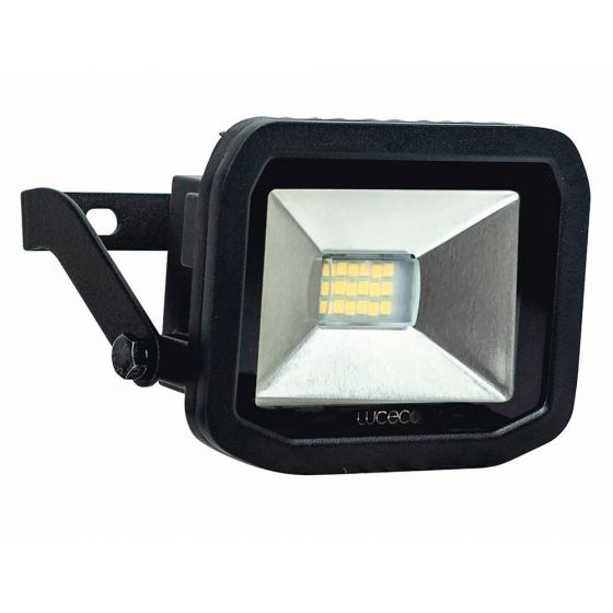 Image of Avenger Outdoor LED Slim Floodlight 600lm 8W 3000K Black IP44