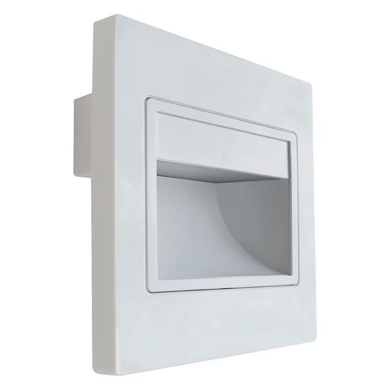 Image of Avenger Square LED Recessed Plinth Wall Light 96lm 1.5W 4000K White