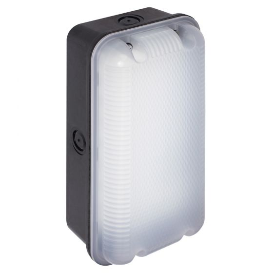 Image of Ansell ASBLED Outdoor 6W LED Bulkhead Wall Light 440lm 4000K Black IP65