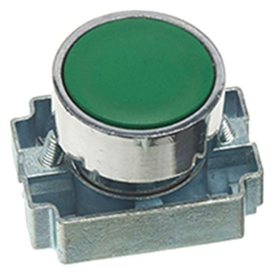 Image of Avenue Green Push Button for a Control Station Standard Flush 22mm