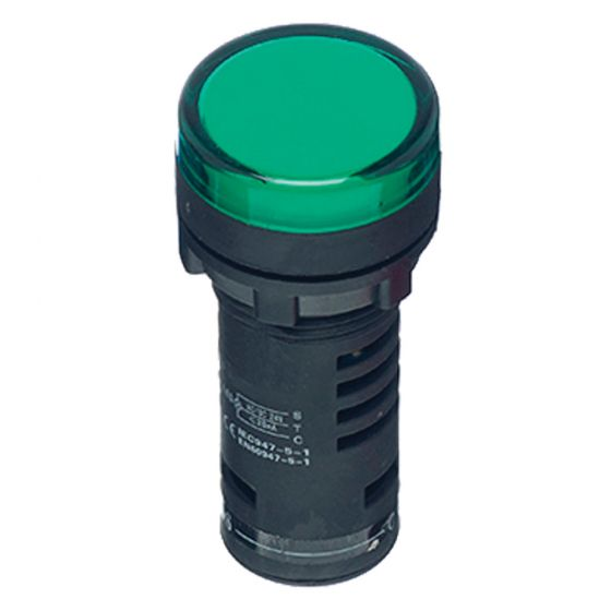 Image of Avenue Green LED Pilot Lamp for a Control Station 240V AC 22mm