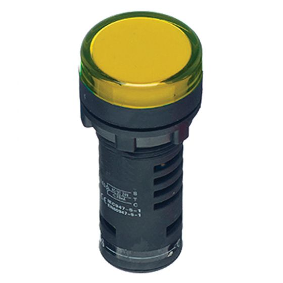 Image of Avenue Amber LED Pilot Lamp for a Control Station 22mm 240V AC 22mm
