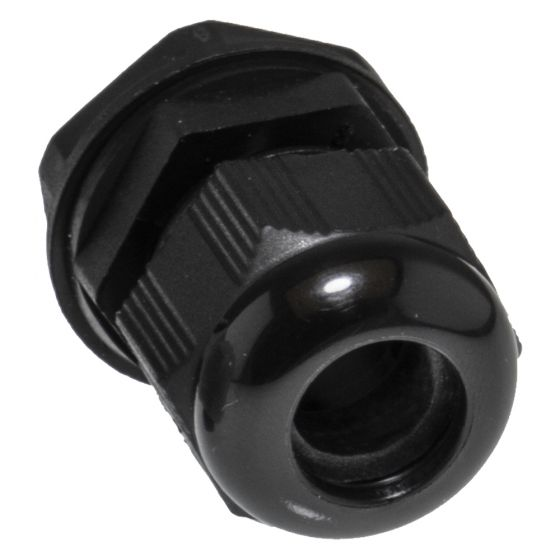Image of Avenue Polyamide Cable Gland 20mm Large Black IP68 Each