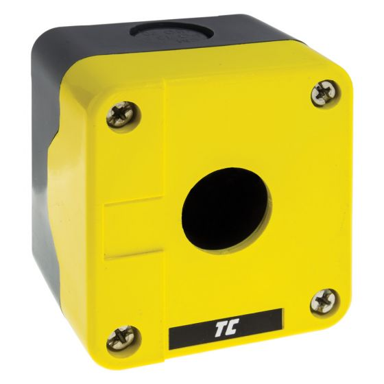 Image of Avenue Control Station Enclosure Yellow Single 22mm Accessory Hole