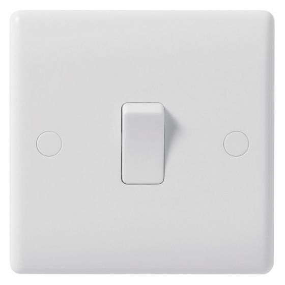 Image of Avenue Contour Light Switch 1 Gang 2 Way 10AX Inductive White