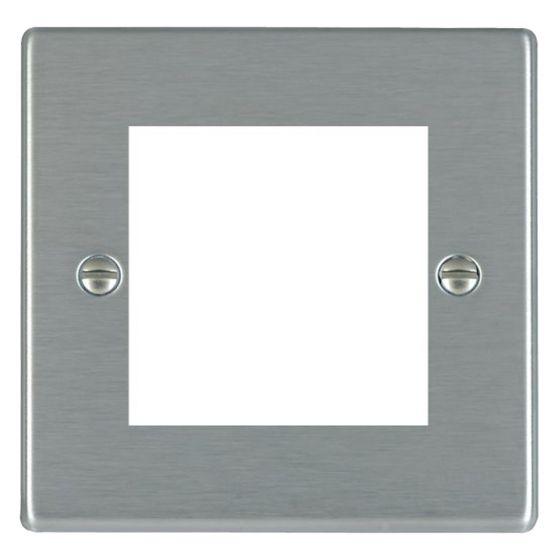 Image of Avenue Slim Euro Front Plate 2 Module Single Plate Satin Steel