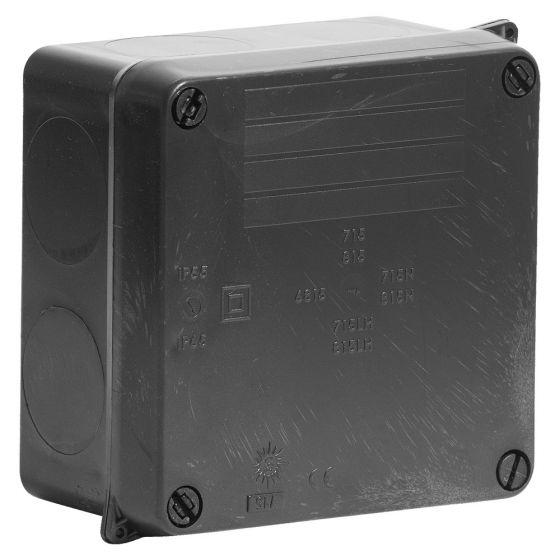 Image of Avenue Weatherproof Adaptable Box 112x112x67mm IP65 Black