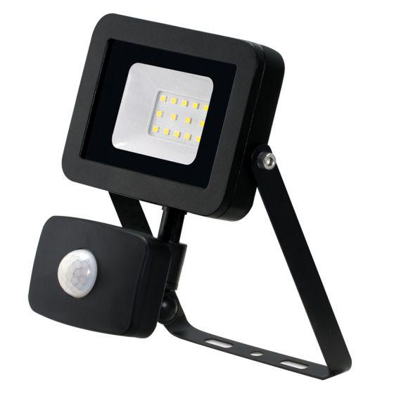 Image of Avenger LED Floodlight PIR 10W 4000K IP65 Black Outdoor