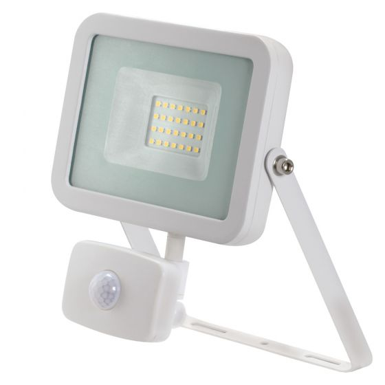 Avenger LED Floodlight PIR 10W 4000K IP65 White Outdoor