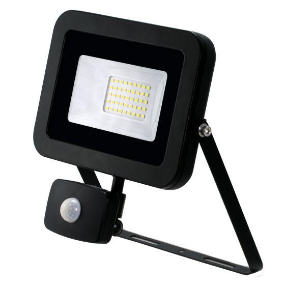 Image of Avenger LED Floodlight PIR 30W 4000K IP65 Black Outdoor