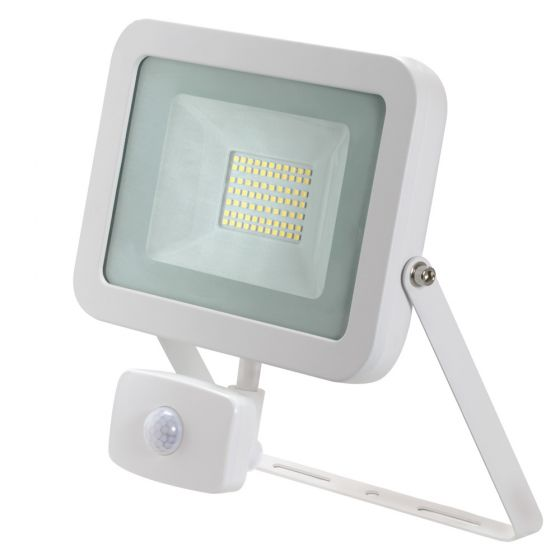 Image of Avenger LED Floodlight PIR 50W 4000K IP65 White Outdoor