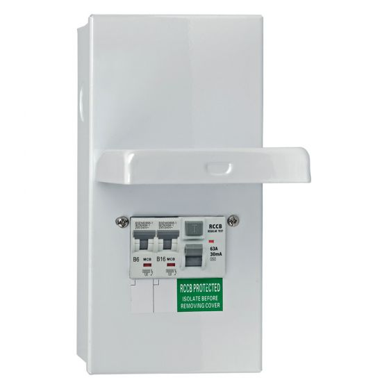 Image of Avenue Garage Unit 4 Way 2x MCBs IP55 63A Main Switch