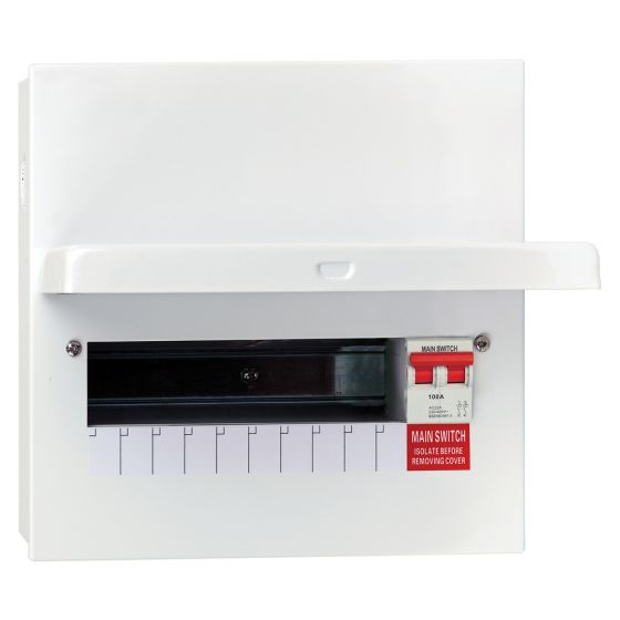 Avenue Metal Consumer Unit 100A DP 10 Way