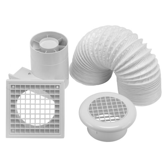 Image of Avenue 4 Inch In Line Shower Fan Kit with Timer