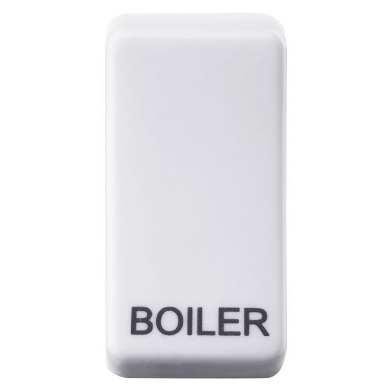 Image of Avenue Grid Switch Rocker Cover Engraved Boiler White