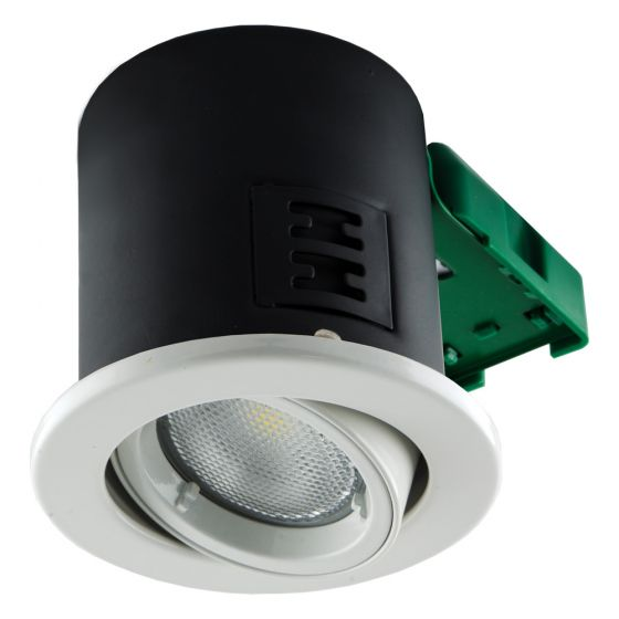 Image of Avenue GU10 Downlight Tilt White Fire Rated No Lamp IP20