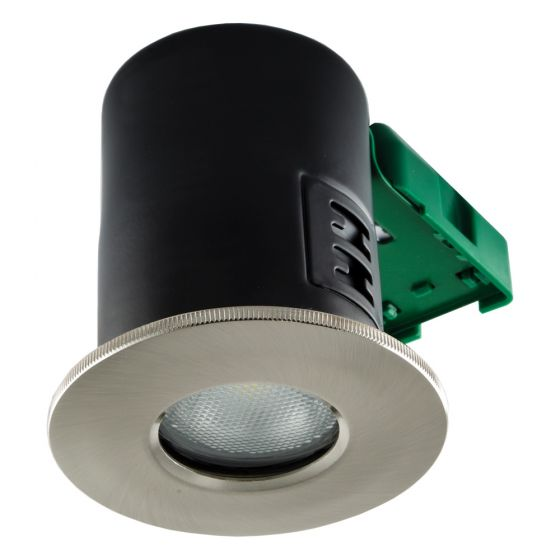 Image of Avenue GU10 Shower Downlight Satin Chrome Fire Rated No Lamp IP20