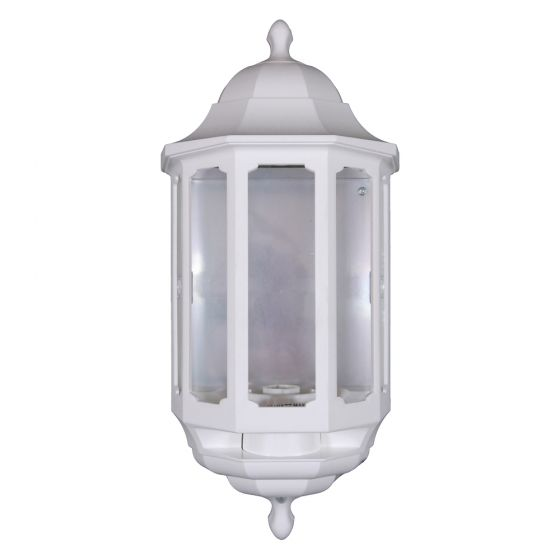 Image of Avenue Outdoor Half Lantern Wall Light BC (B22) White