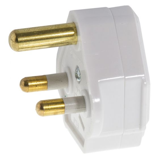 Image of Avenue 5A Plug Top 3 Pin Plastic White