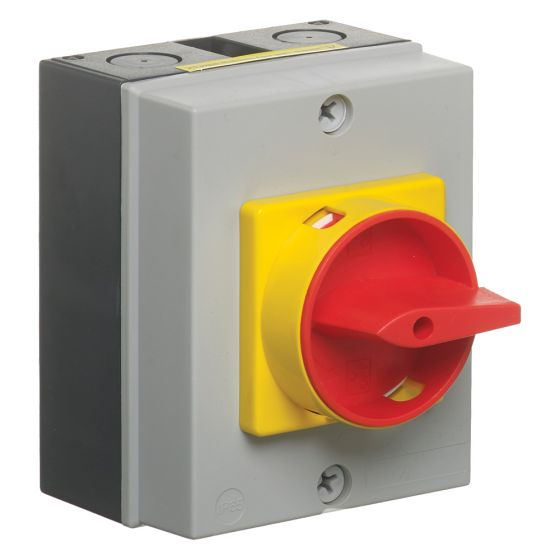 Image of Avenue Rotary Isolator Switch 20A 4 Pole 690V Insulated Waterproof IP65