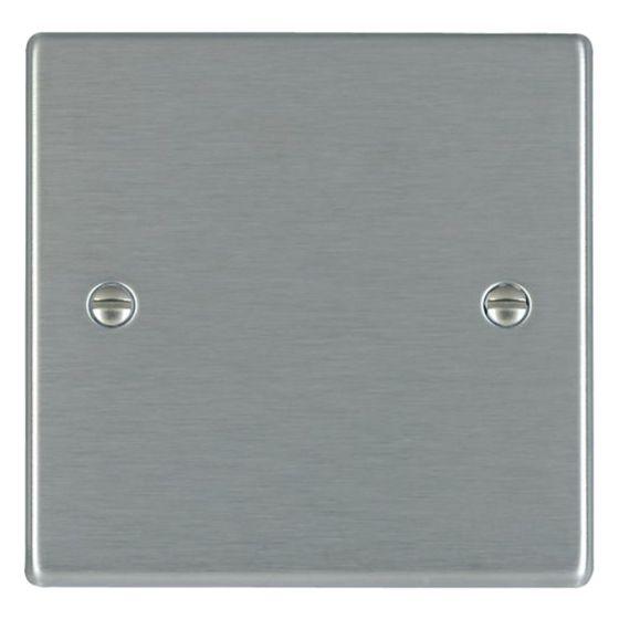 Image of Avenue Slim Single Blank Plate 1 Gang Satin Steel