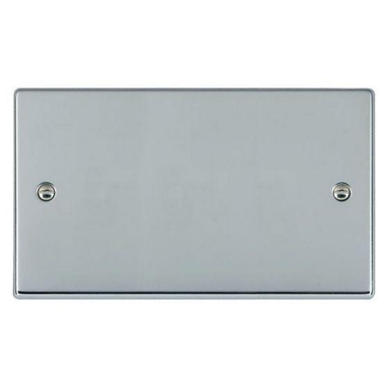 Image of Avenue Slim Double Blank Plate 2 Gang Polished Chrome