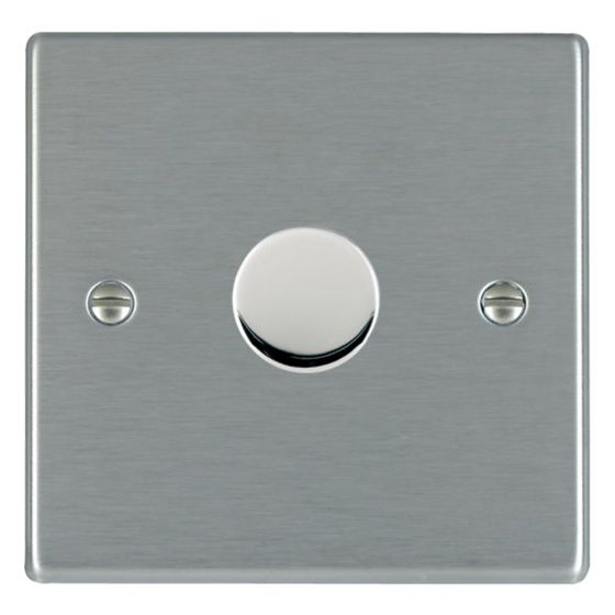 Image of Avenue Slim Intelligent LED Dimmer Switch 1 Gang 5-100W Satin Steel