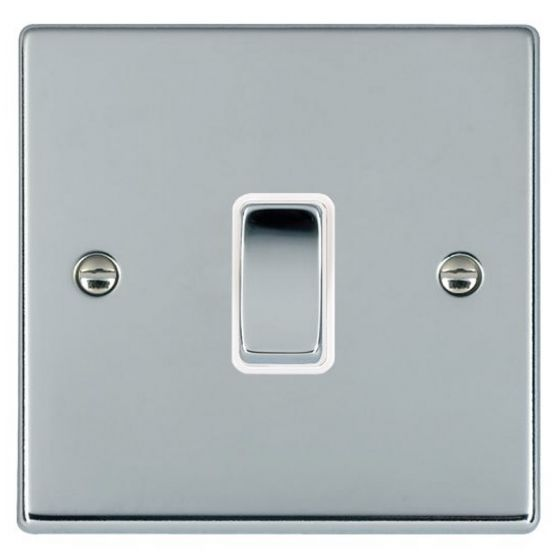 Image of Avenue Slim Intermediate Switch 10AX 1 Gang Polished Chrome White