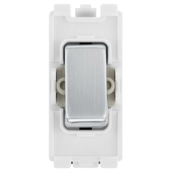 Image of BG Electric RBS30 Grid Switch 20A 2W DP Single Module Brushed Steel