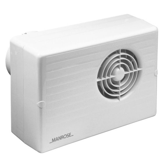 Image of Manrose CF200T 4 Inch Centrifugal Bathroom Extract Fan Overrun Timer