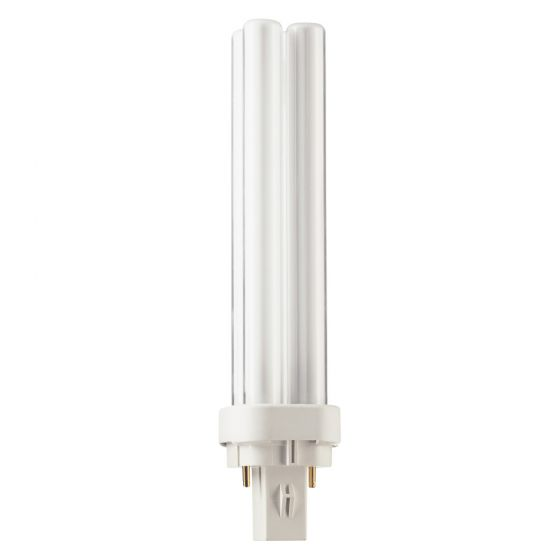 Image of PL-C 18W 2 Pin Cool White 4000K 840 Compact Fluorescent Quad Tube Lamp