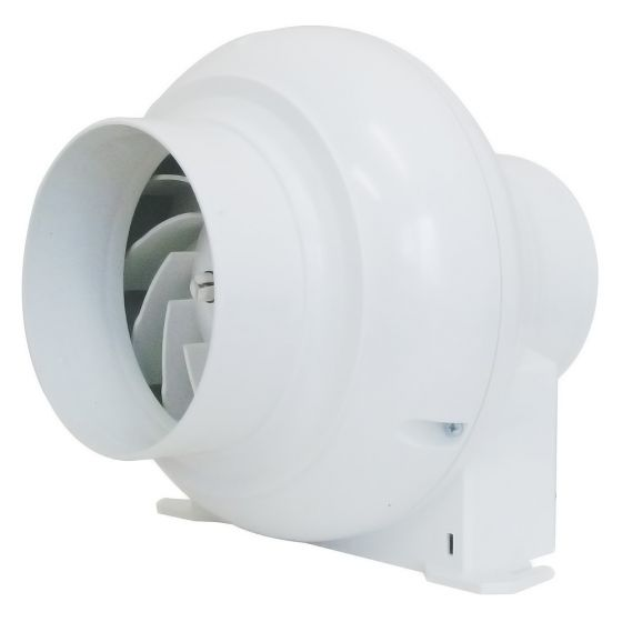 Image of Manrose CFD200T Inline Centrifugal 4 Inch Extract Fan Overrun Timer