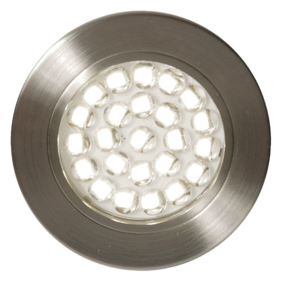 Image of Forum Pozza LED Recessed Under Cabinet Light 140lm 1.5W 4000K Nickel