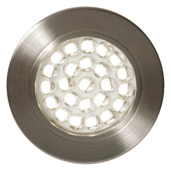 Image of Forum Pozza LED Recessed Under Cabinet Light 130lm 1.5W 3000K Nickel