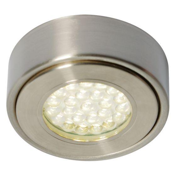 Image of Forum Laghetto LED Round Under Cabinet Light 130lm 1.5W 3000K Nickel