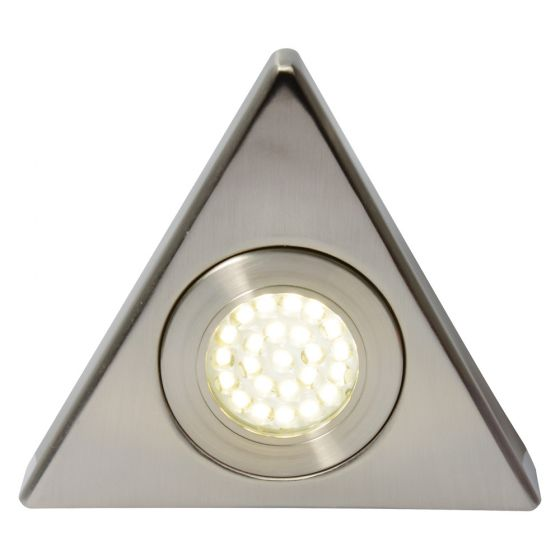 Image of Forum Culina LED Triangle Under Cabinet Light 130lm 1.5W 3000K Nickel