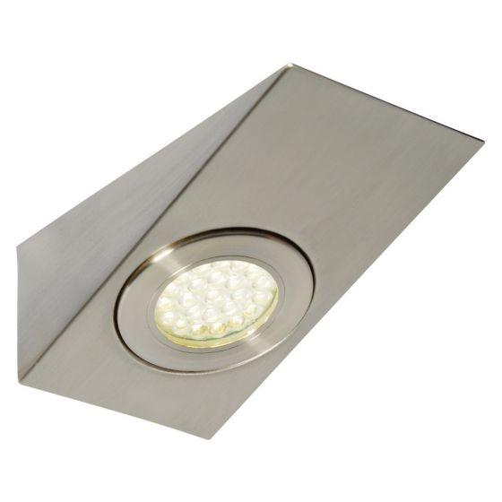 Image of Forum Lago LED Wedge Under Cabinet Light 130lm 1.5W 3000K Nickel